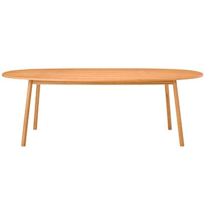 オーク材ダイニングテーブル・オーバル1/R幅220×奥行107.5×高さ72cmの写真