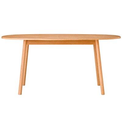オーク材ダイニングテーブル・オーバル2/R幅160×奥行90×高さ72cmの写真