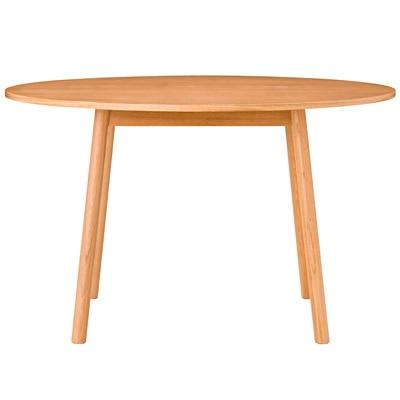 オーク材ダイニングテーブル・丸/R幅120×奥行120×高さ72cmの写真