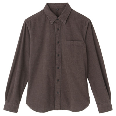 Organic Cotton Flannel Shirt: Brown