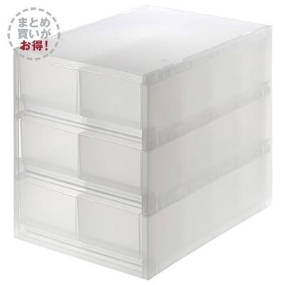 PPケース引出式浅型6個(仕切付)3個組【まとめ買い】 約26×37×32.5(6749004)