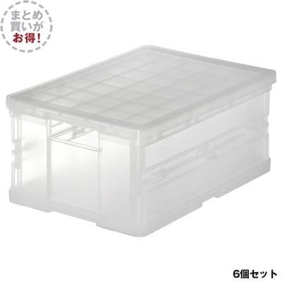 PPキャリーボックス折りたたみ式小6個組【まとめ買い】 約36×25.5×16.5(768670