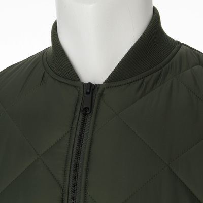 Muji Quilted Bomber Jacket 47188134: Dark Green