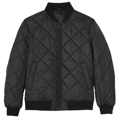 Muji Quilted Bomber Jacket 47188134: Black