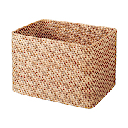 RATTAN RECT BASKET STACKABLE L