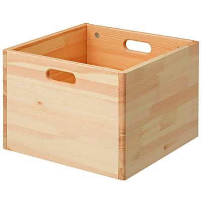 パイン材収納BOX 幅35×奥行き35×高25.2cm