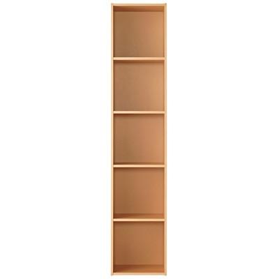 パルプボードボックス・タテヨコA4サイズ・5段・ベージュ (5段)37.5×29×180cm