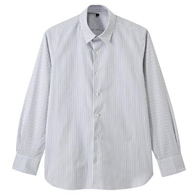 【店舗限定】超長綿ピンオックスレギュラーカラーシャツ 紳士M・グレー