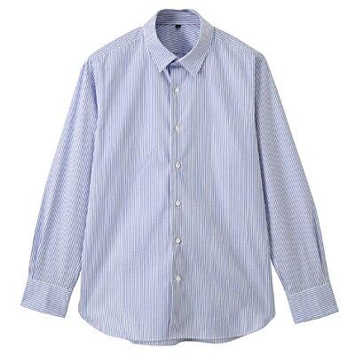 【店舗限定】超長綿ピンオックスレギュラーカラーシャツ 紳士L・サックスブルー