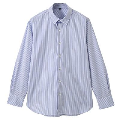 【店舗限定】超長綿ピンオックスレギュラーカラーシャツ 紳士XL・サックスブルー