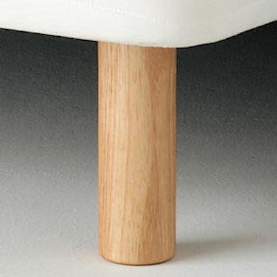 【パーツ】脚付マットレス用木製脚・20cm(1本/NT) 木製脚・20cm/NT