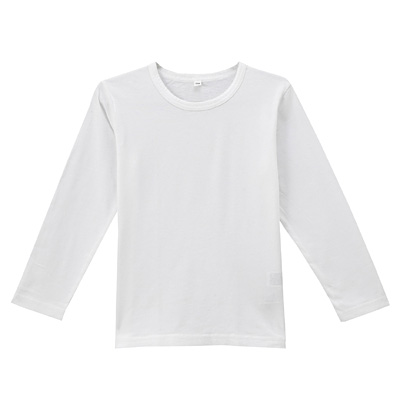 毎日のこども服長袖Tシャツ キッズ110・白