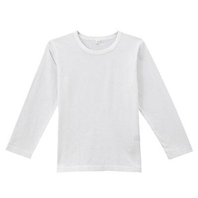 毎日のこども服長袖Tシャツ キッズ120・白