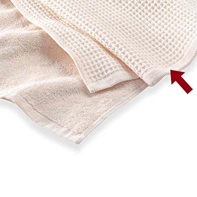 綿蜂巣織フェイスタオル/生成/34×85cm