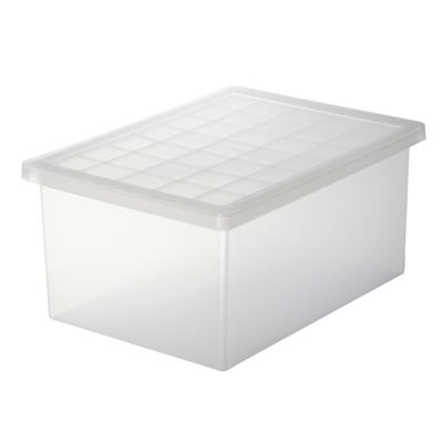 ポリプロピレンキャリーボックス・小 V)約幅25.5×奥36×高16.5cm