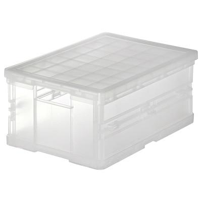 ポリプロピレンキャリーボックス・折りたたみ式・小 V)約幅36×奥25.5×高16.5cm