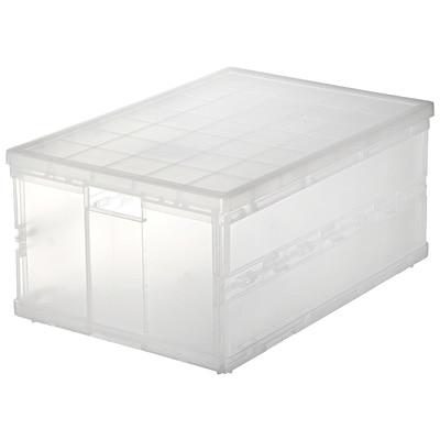 ポリプロピレンキャリーボックス・折りたたみ式・大 (V)約幅36×奥51×高24.5cm
