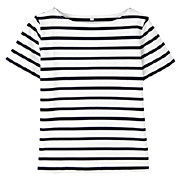 Dry Ct Uv Cut S/s Border T-shirt White Bor S