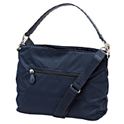 High Density Nylon Twill Shoulder Bag Navy