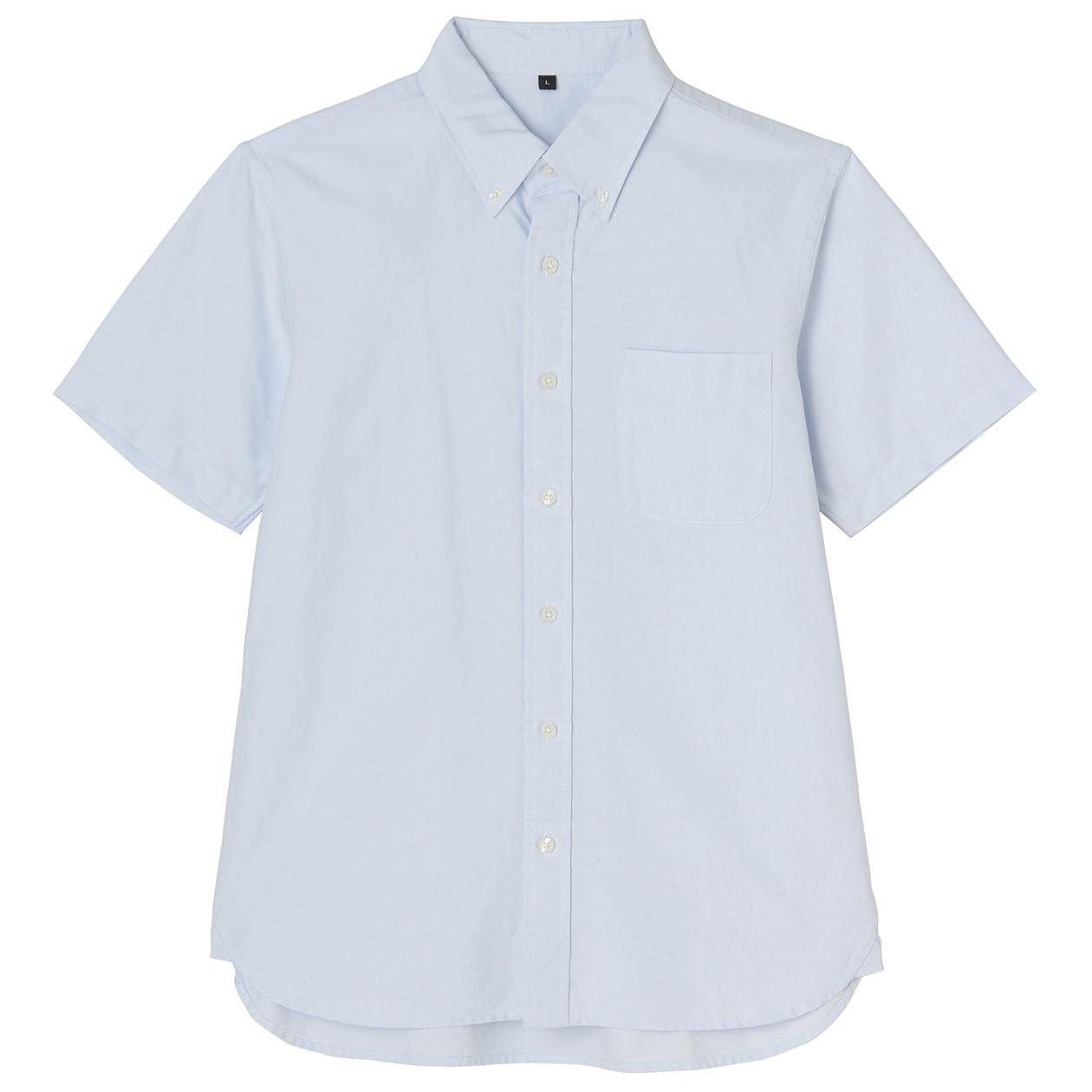 Organic Cotton Oxford Button Down S S Shirt Men Xs Light
