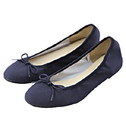 Ribbon Ballet Shoes Navy S