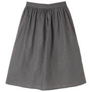 French Linen Easy Skirt Gry S
