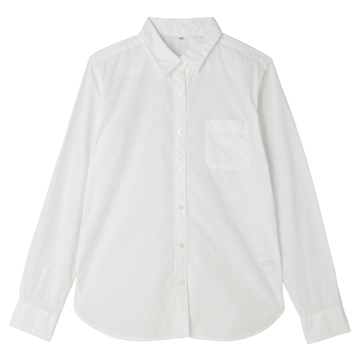 オーガニックコットン洗いざらしブロードシャツ