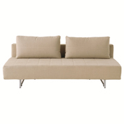 2 Seater Sofabed - Linen - Beige
