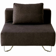 Unit Sofa Single Black/Brown