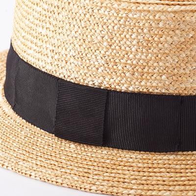 麦わら帽子 中折れ帽