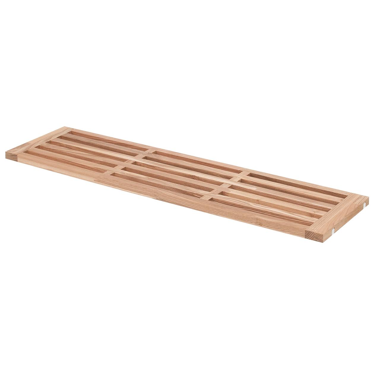 組み合わせて使える木製収納用すのこ棚板・奥行21cm用