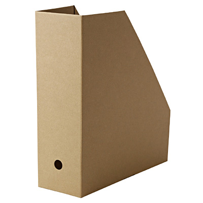 ワンタッチで組み立てられるダンボールスタンドファイルボックス・5枚組