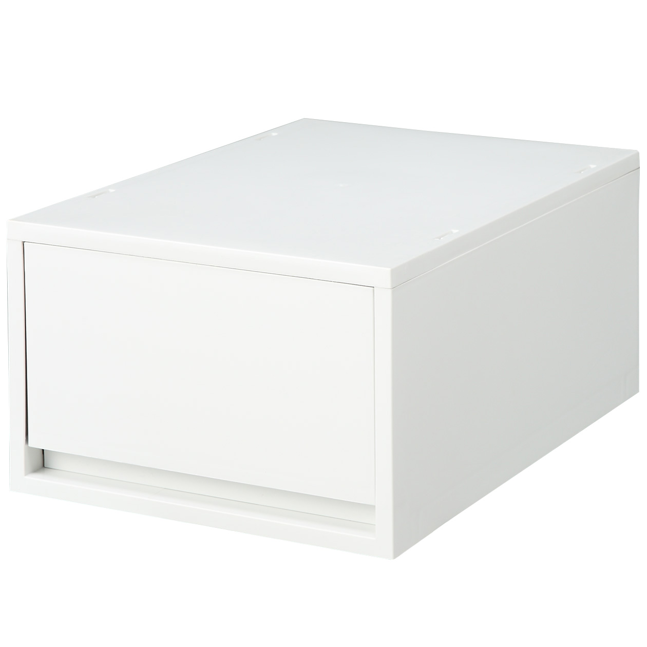 ポリプロピレンケース・引出式・深型・ホワイトグレー ホワイトグレーの写真