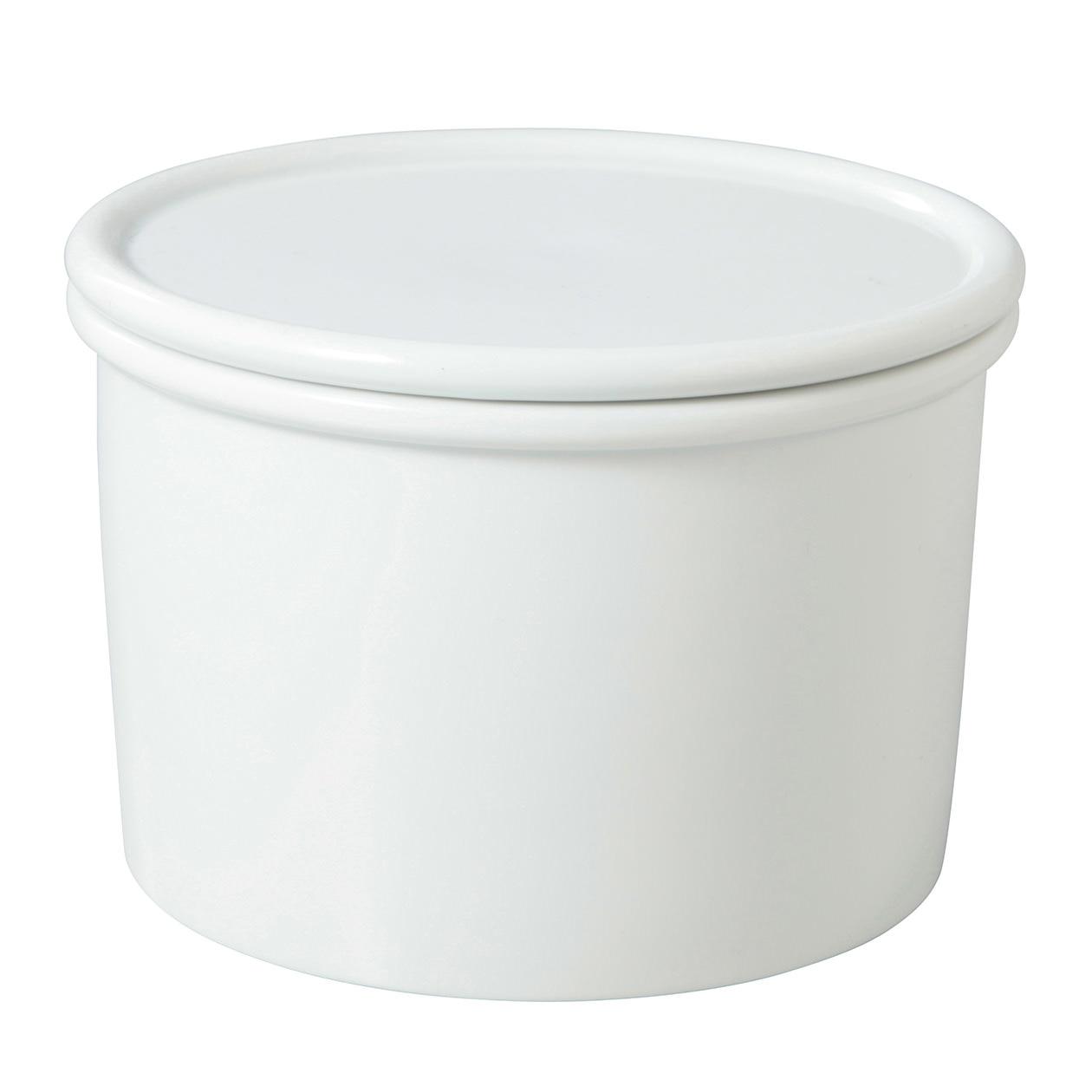白磁保存容器 大