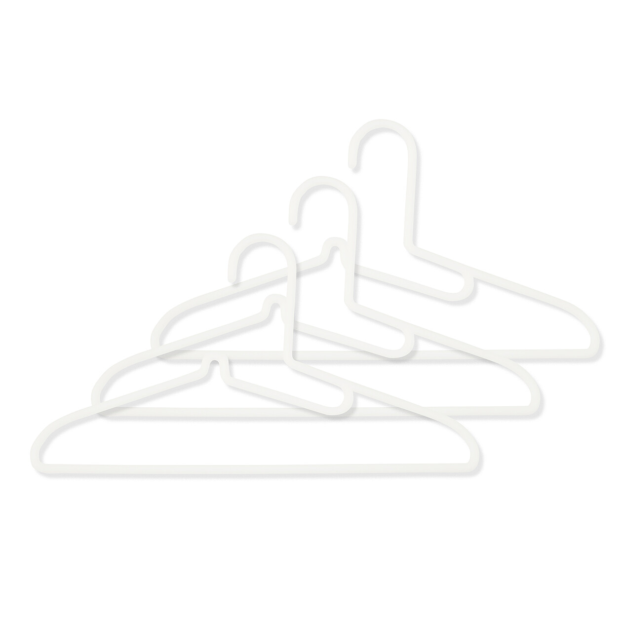 ポリプロピレン洗濯用ハンガー・シャツ用・3本組の写真