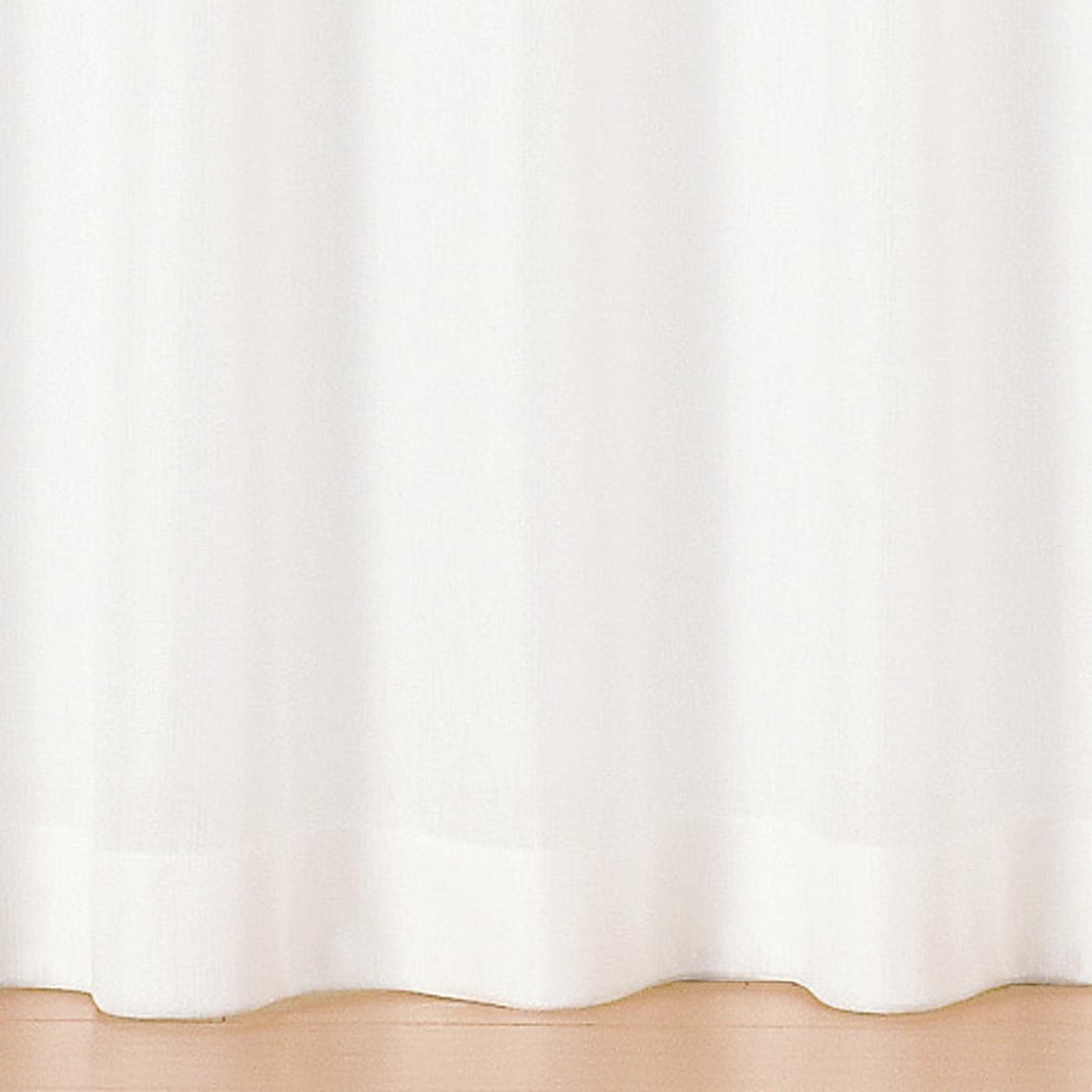 UVカット熱を通しにくいトリコット防炎レースプリーツカーテン/オフ白