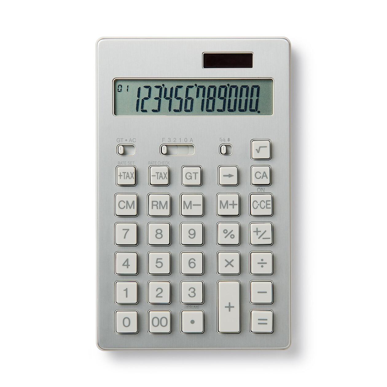電卓 12桁・アルミ(BO‐192)