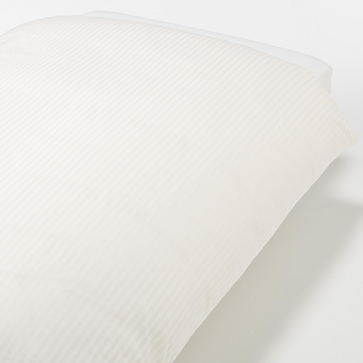 インド綿高密度サテン織ホテル仕様掛ふとんカバーSD/オフ白ストライプ SD/オフ白ストライプ