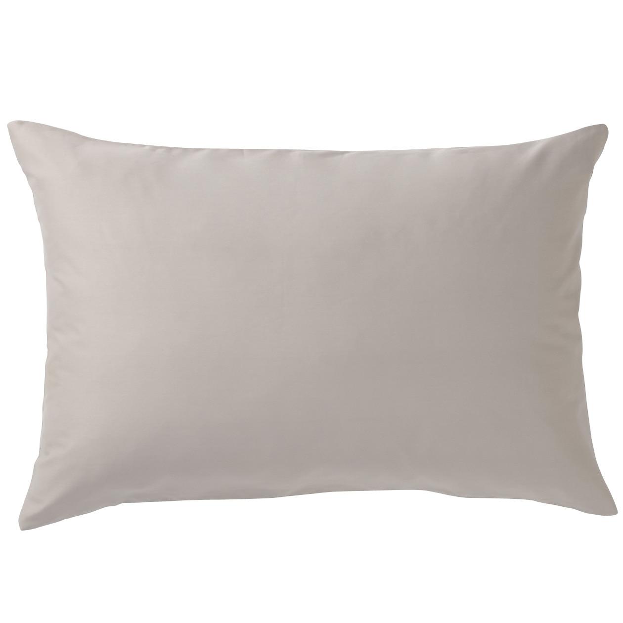 インド綿高密度サテン織ホテル仕様まくらカバー/グレー