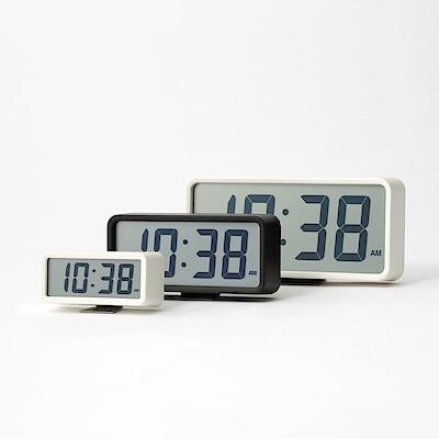 デジタル時計・中(アラーム機能付) ホワイト/型番:MJ‐DCMW1 コンビニ受取可