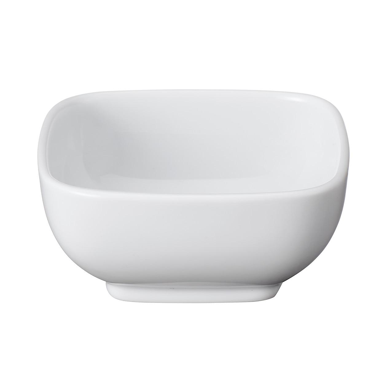白磁角鉢・小