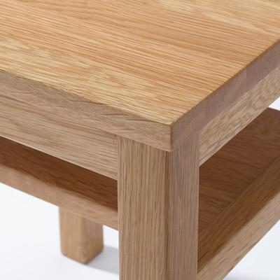 MUJI【無印の無垢材木製ベンチ幅100cm】天然オーク材の椅子