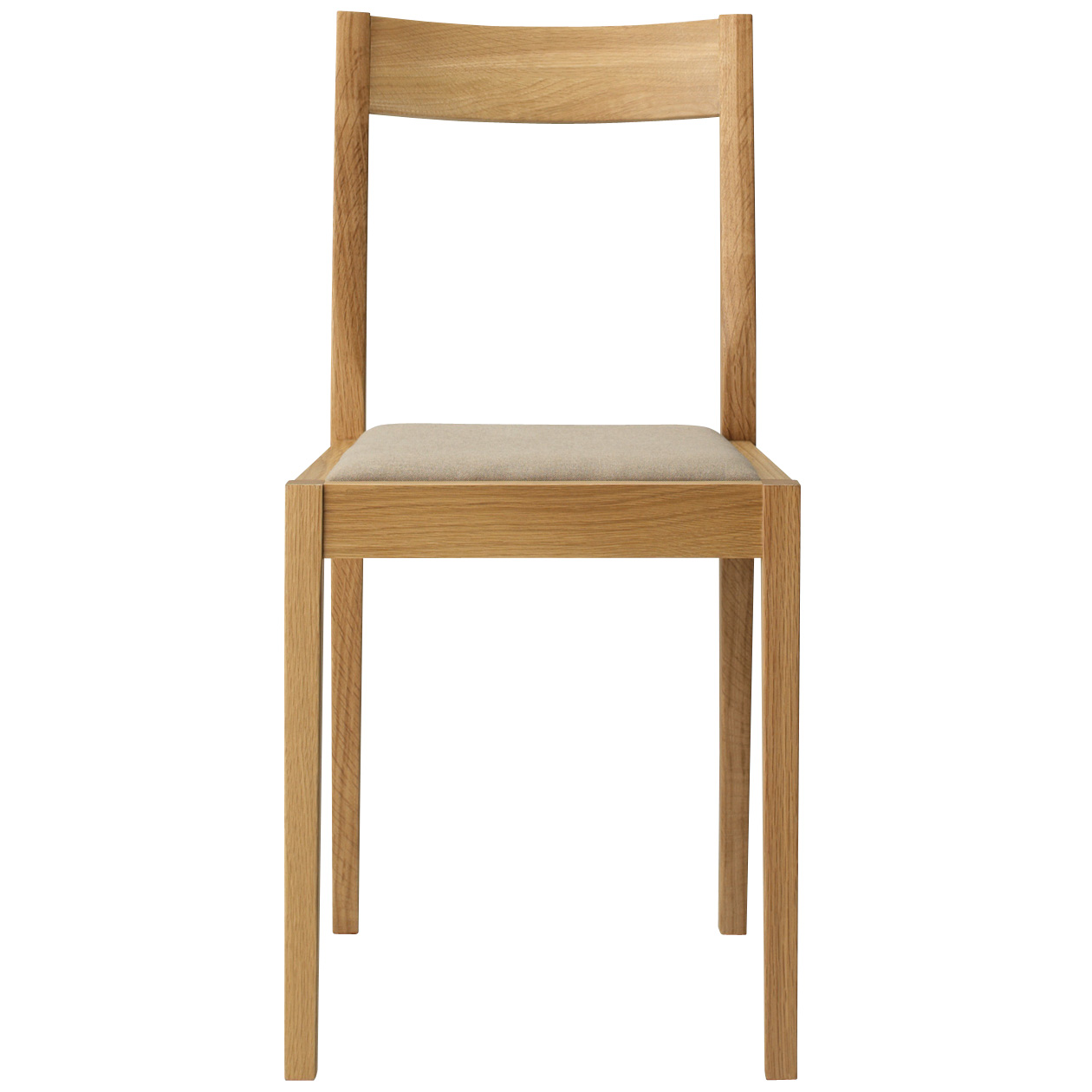 OAK / CUSHIONED SEAT / CHAIR / BE