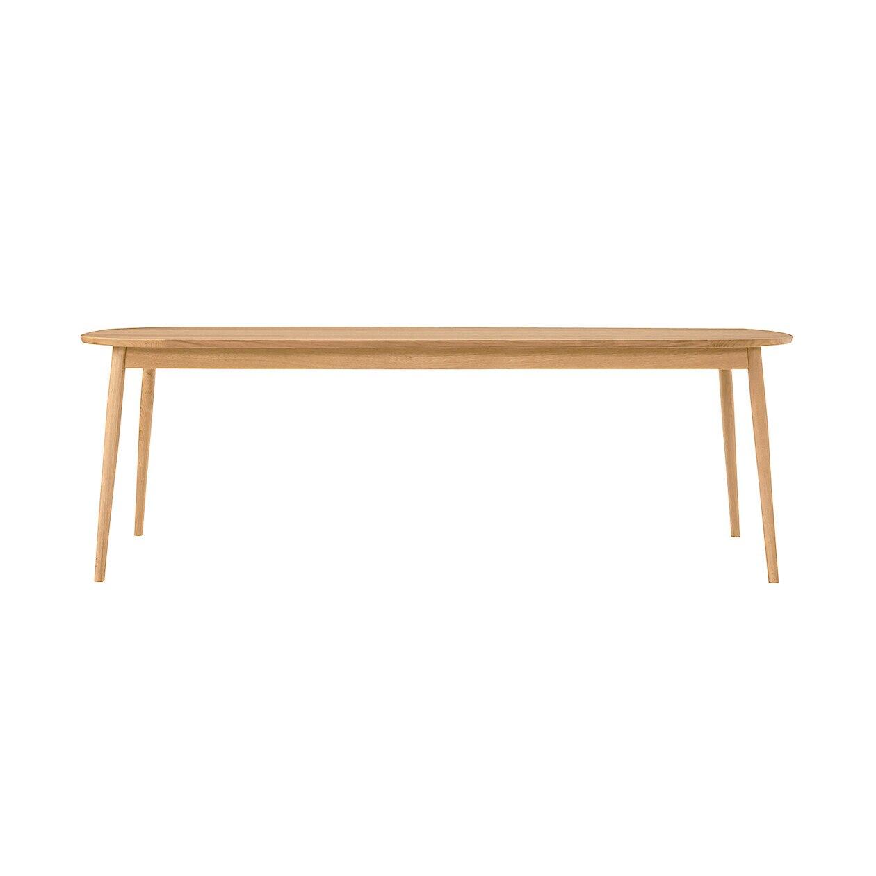 オーク材テーブル・丸脚・幅220cm