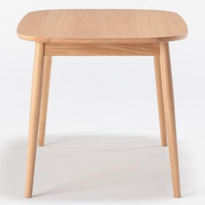 無印良品   オーク材テーブル・丸脚・幅150cm幅150×奥行80×高さ72cm 通販