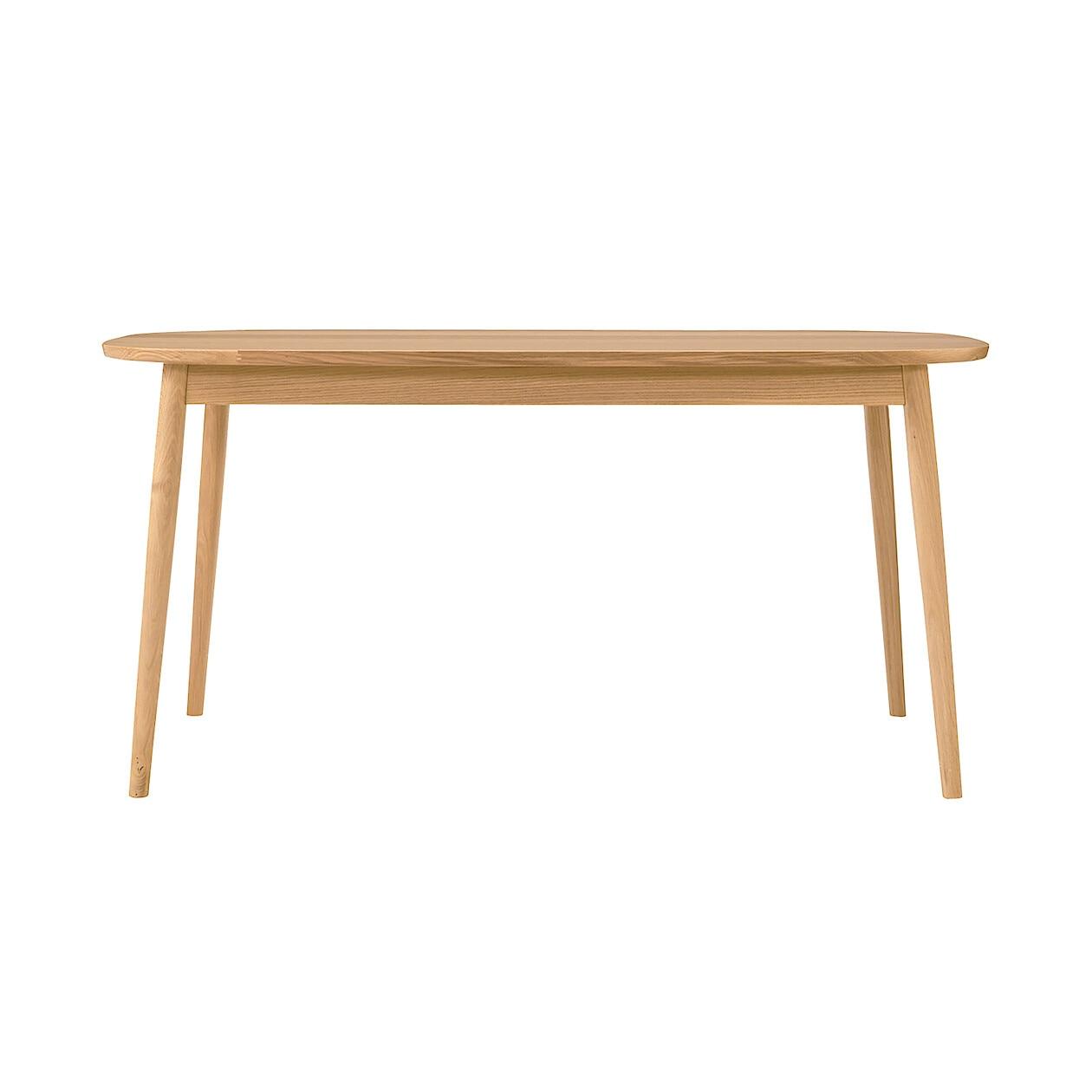 オーク材テーブル・丸脚・幅150cm