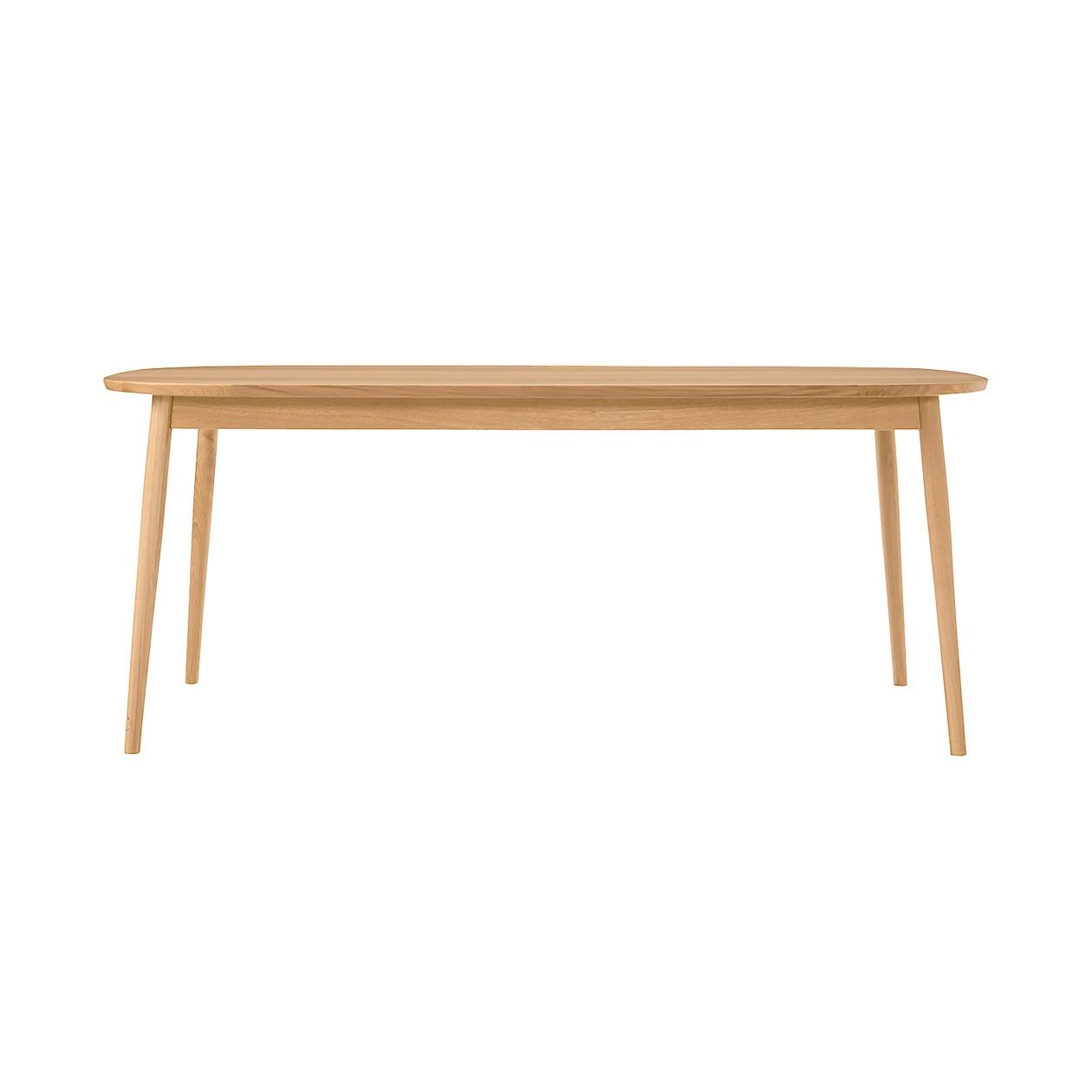オーク材テーブル・丸脚・幅180cm