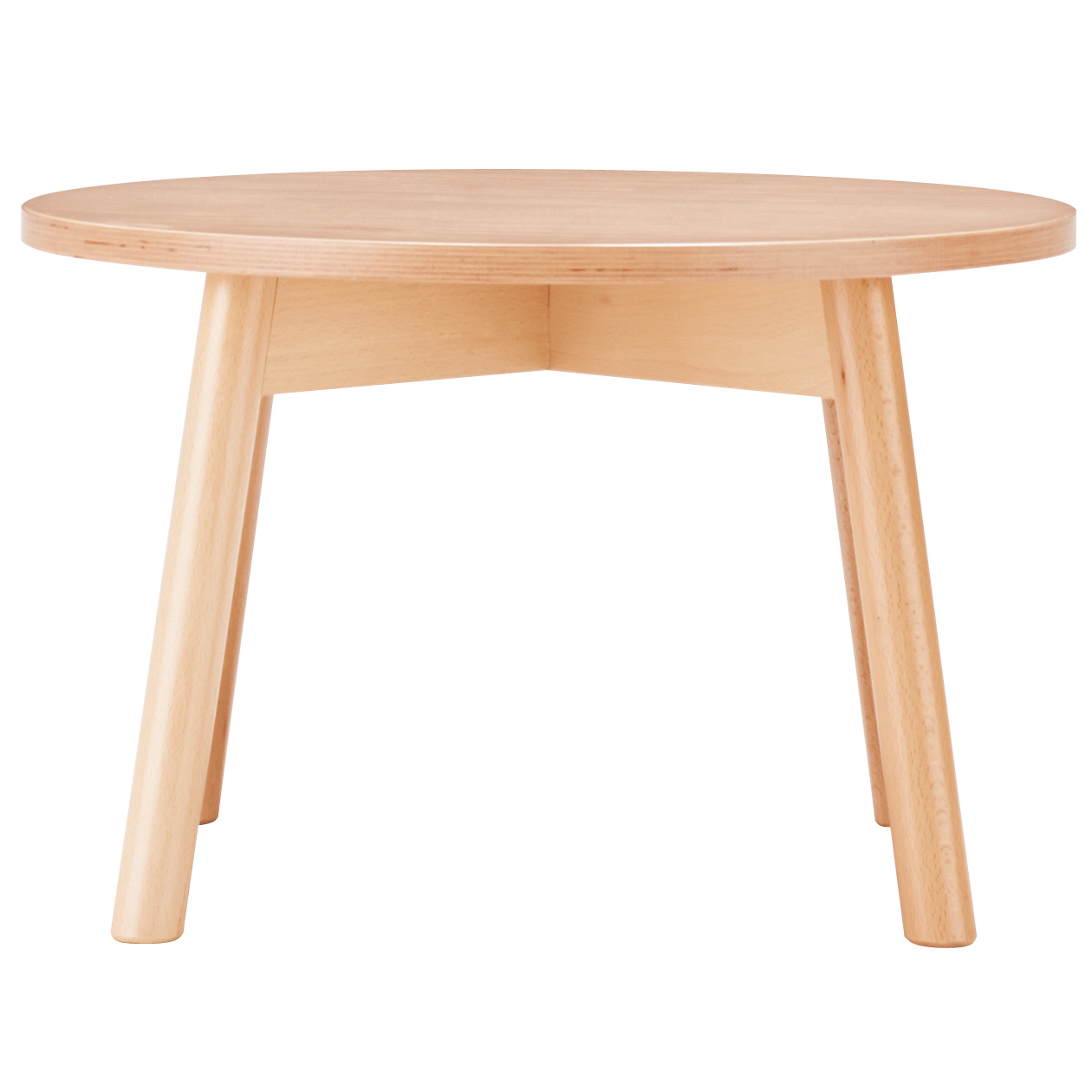 Beech Low Table Round