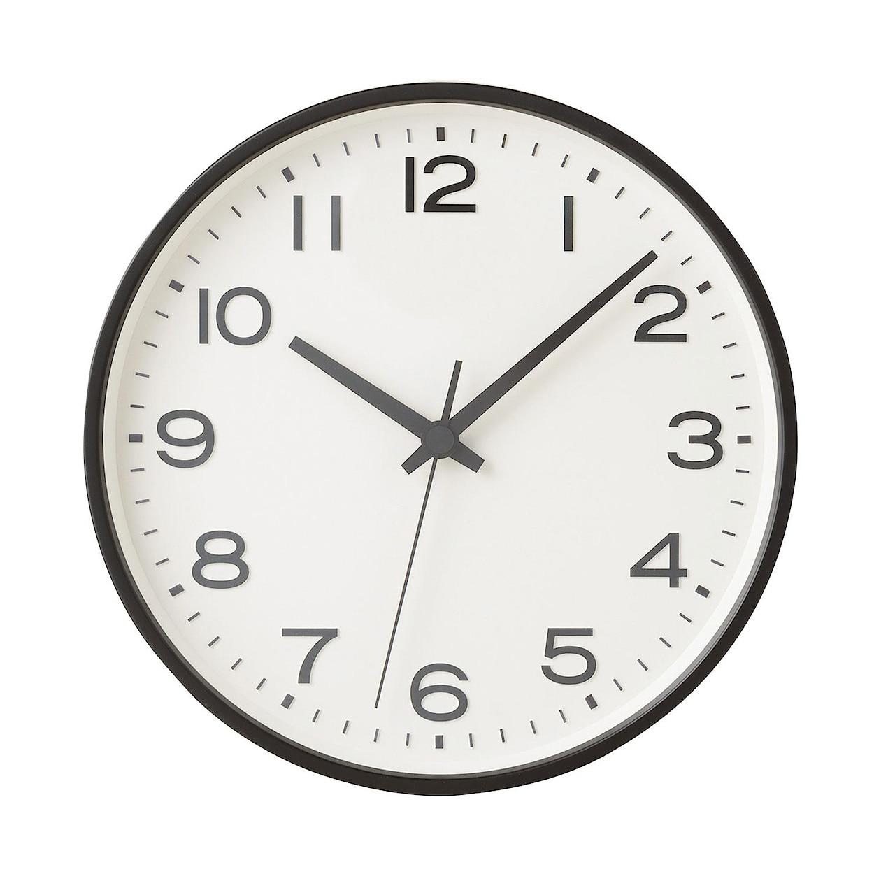 アナログ時計・大 ブラック