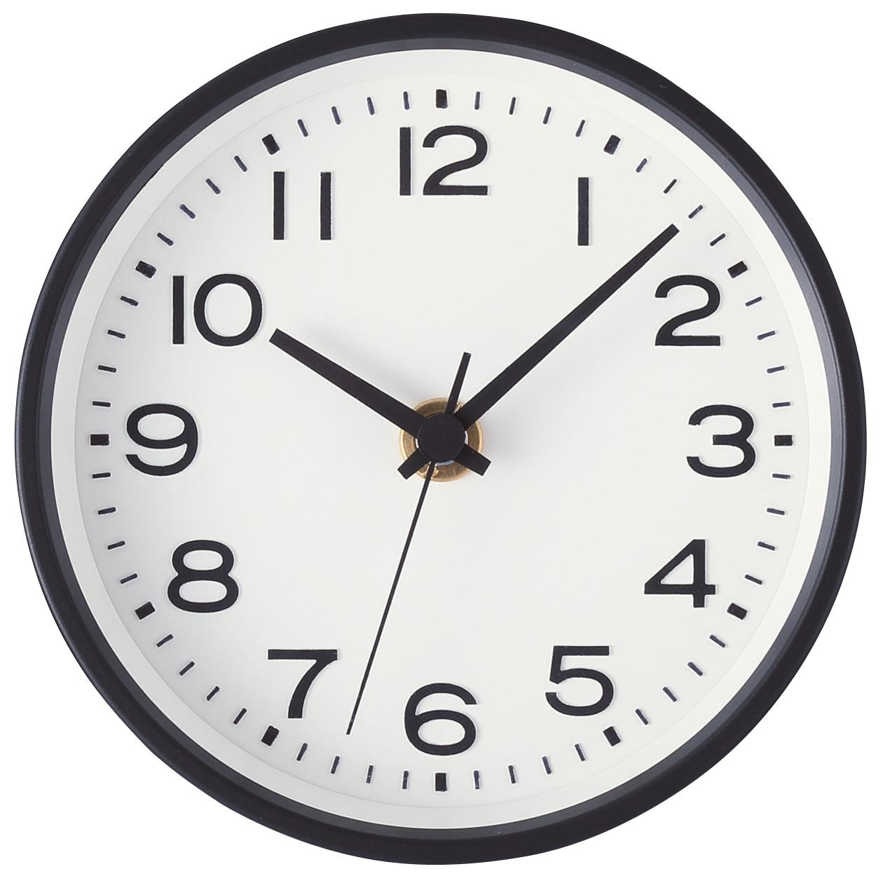 analog clock s with stand muji